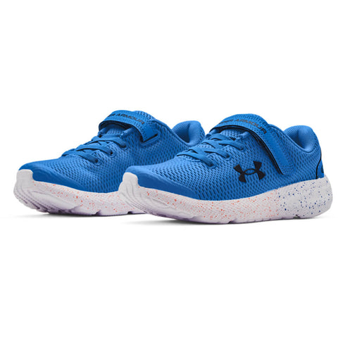 UNDER ARMOUR BOYS PRE-SCHOOL PURSUIT 2 AC KIDS SHOE BLUE/WHITE