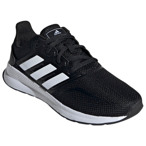 ADIDAS BOYS GRADE SCHOOL RUNFALCON KIDS SHOE BLACK/WHITE/BLACK