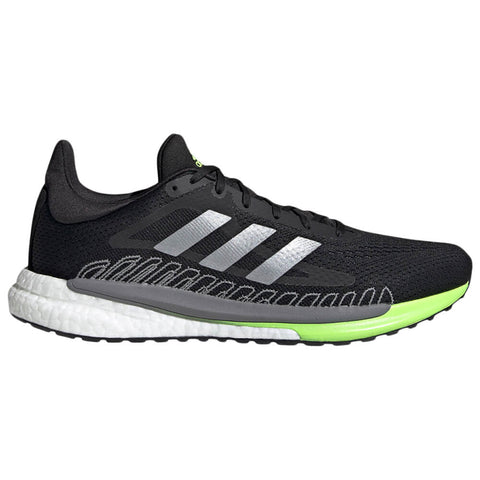 ADIDAS MEN'S SOLAR GLIDE 3 RN RUNNING SHOE BLACK/SILVER/RED