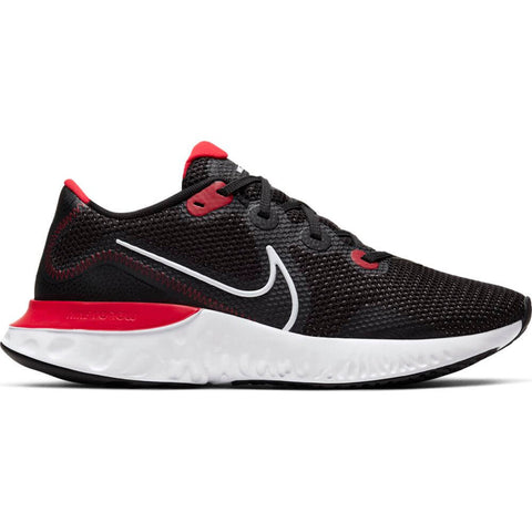 NIKE MEN'S RENEW RUN RUNNING SHOE BLACK/WHITE/UNIVERSITY RED