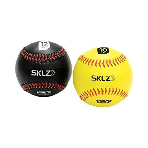 SKLZ WEIGHTED BASEBALLS 10 OZ & 12 OZ - 2 PACK