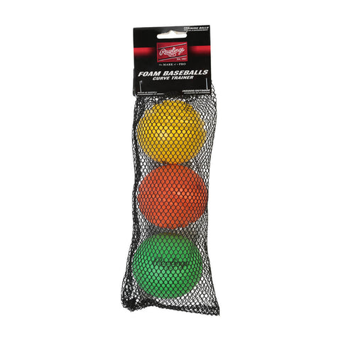RAWLINGS CURVE TRAINER BALLS 3-PACK