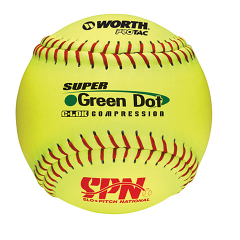 WORTH SOFTBALL CANADA SUPER GREEN DOT OPTIC 11 INCH SOFTBALL