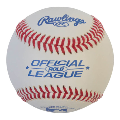 RAWLINGS ROLB1 COMPOSITE CORK/RUBBER CENTRE RAISED SEEM 9 INCH BASEBALL