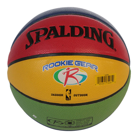 SPALDING ROOKIE GEAR MULTI-COLOR SIZE 5 BASKETBALL