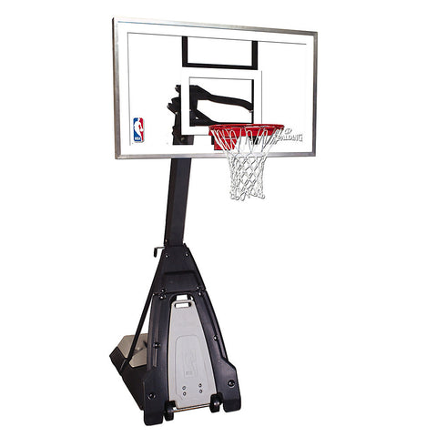 SPALDING THE BEAST 60 INCH GLASS PORTABLE BASKETBALL SYSTEM