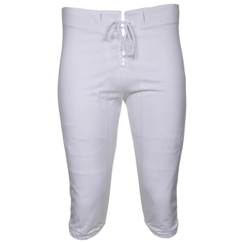 ADAMS SENIOR SMALL WHITE FOOTBALL PRACTICE PANTS FRONT