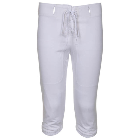ADAMS YOUTH LARGE WHITE FOOTBALL PRACTICE PANTS FRONT