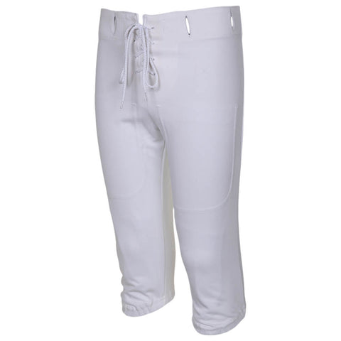 ADAMS YOUTH LARGE WHITE FOOTBALL PRACTICE PANTS