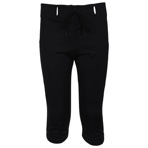 ADAMS YOUTH SMALL BLACK FOOTBALL PRACTICE PANTS FRONT