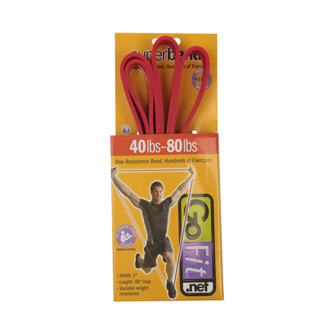 GOFIT SUPERBAND 40-80LBS RESISTANCE BAND RED BOX