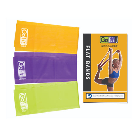 GOFIT LATEX FREE FLAT RESISTANCE BAND 3 PACK