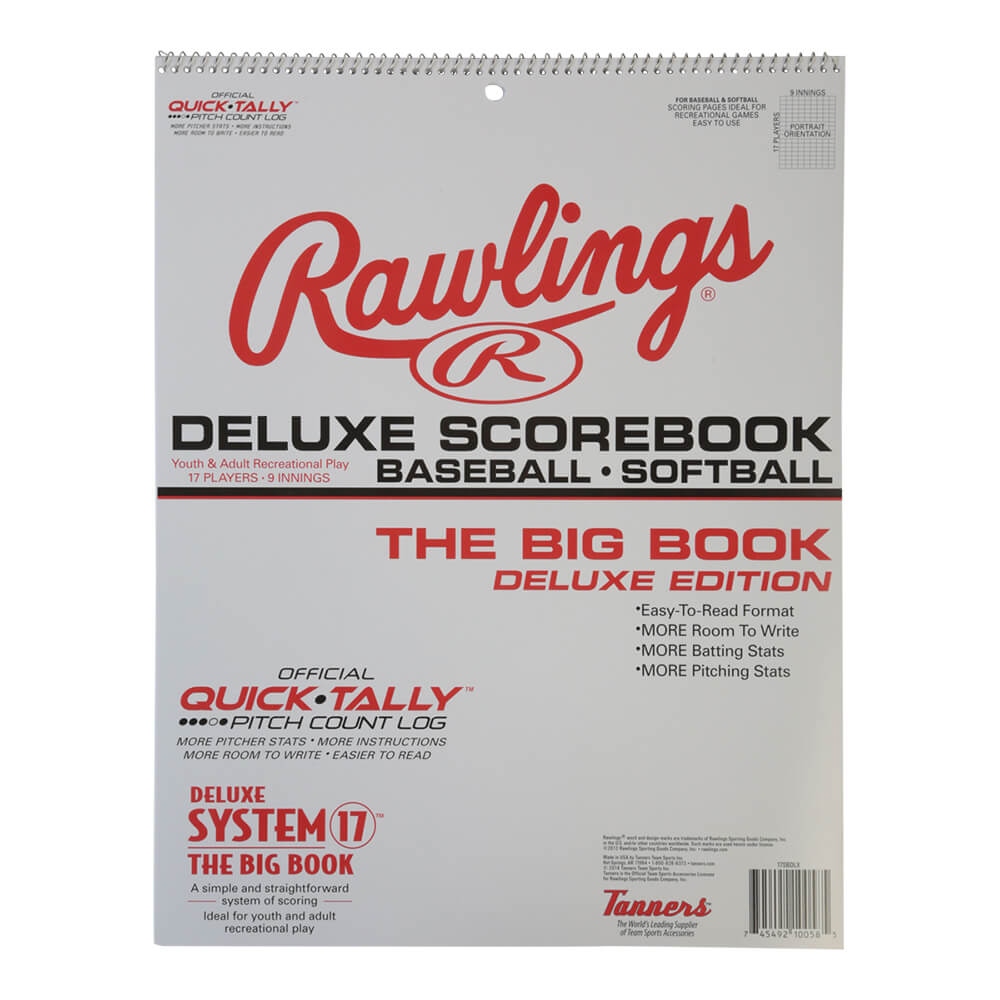 7e712b45fc77 RAWLINGS SYSTEM-17 DELUXE SCOREBOOK BASEBALL/SOFTBALL – National Sports