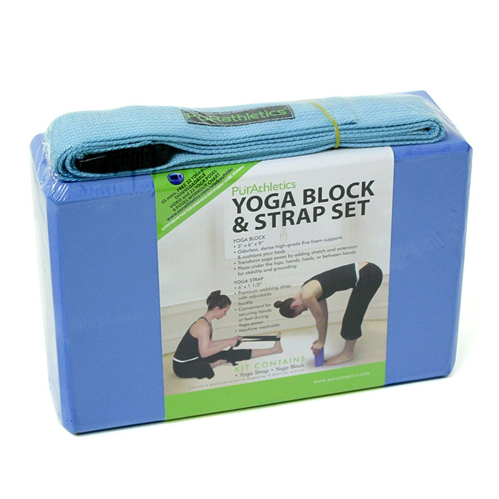 dfa09407a8 ZENZATION YOGA BLOCK & STRAP BLUE – National Sports
