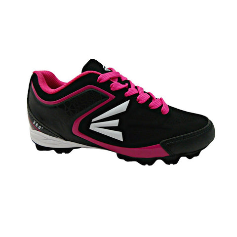 EASTON WOMEN'S 360 LOW BLACK/PINK BASEBALL CLEAT