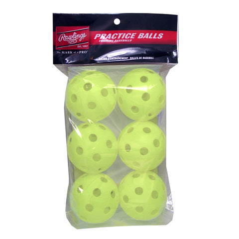 RAWLINGS 9'' WIFFLE BALL OPTIC 6 PK