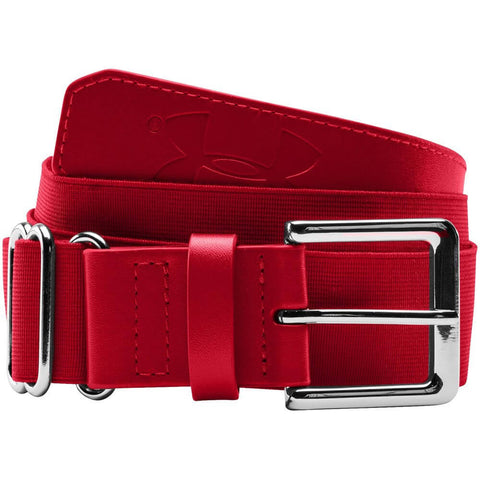 UNDER ARMOUR ADULT BASEBALL BELT RED