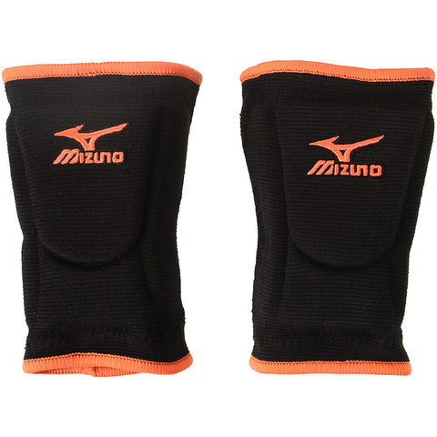 MIZUNO LR6 LARGE HI-LITER BLACK / ORANGE VOLLEYBALL KNEEPAD