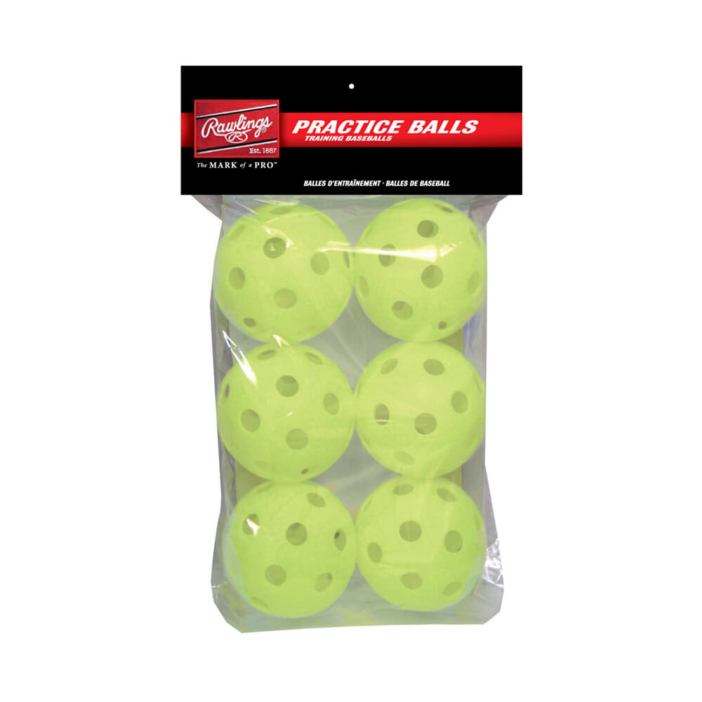 RAWLINGS OPTIC 11 INCH WIFFLE BALL 6 PACK