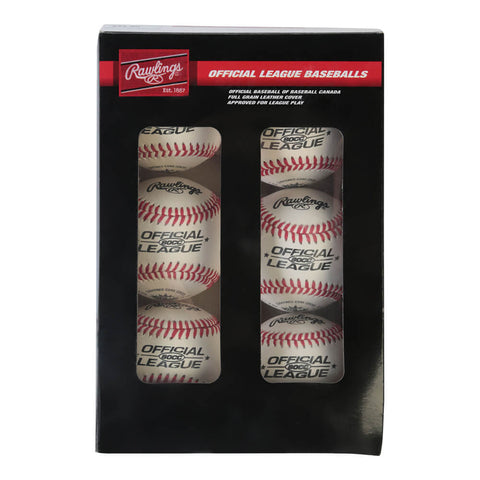 RAWLINGS 80CC  CUSHION CORK PRO SEAM 9 INCH BASEBALL 6-PACK