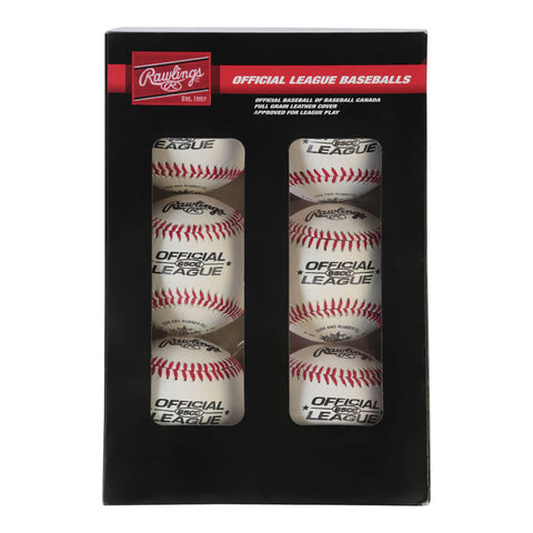 RAWLINGS 65CC CUSHION CORK PRO SEAM 9 INCH BASEBALL 6-PACK