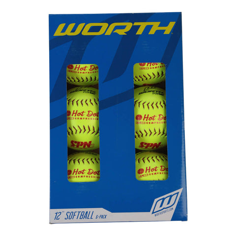 WORTH SPN HOT DOT OPT 12'' 6PK