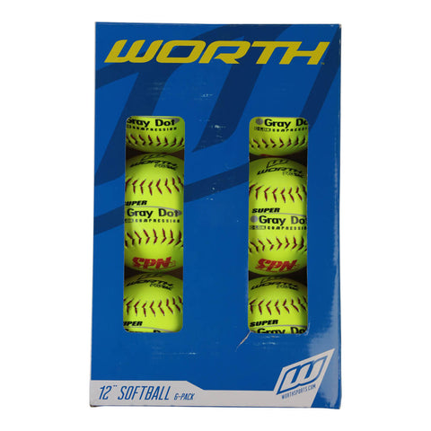 WORTH SPN SUP GRY DOT OPT 12'' 6PK
