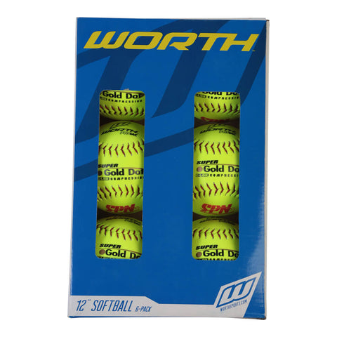 WORTH SPN SUP GOL DOT OPT 12'' 6PK