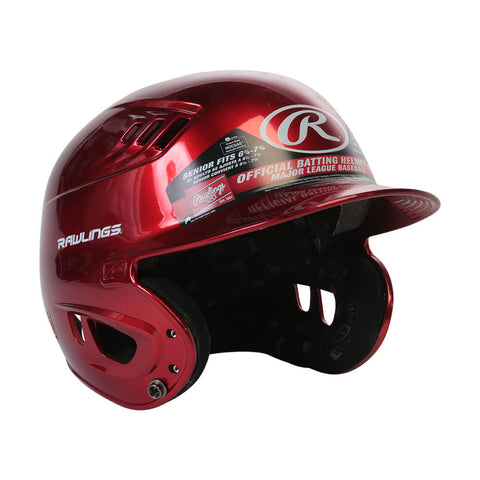 RAWLINGS VELO R16 SR BATTING HELMET METALLIC SCARLETT