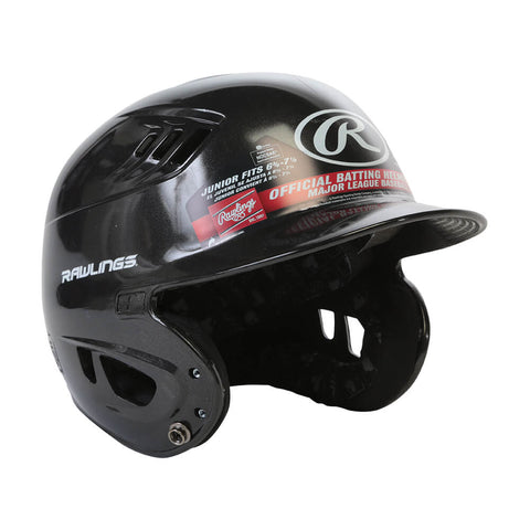 RAWLINGS VELO R16 JR BATTING HELMET METALLIC BLACK