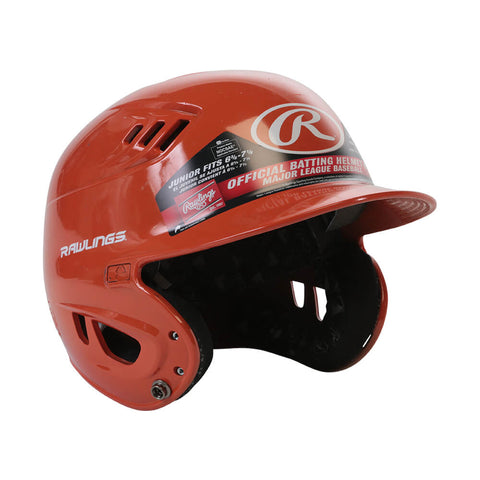 RAWLINGS VELO R16  JR BATTING HELMET METALLIC ORANGE