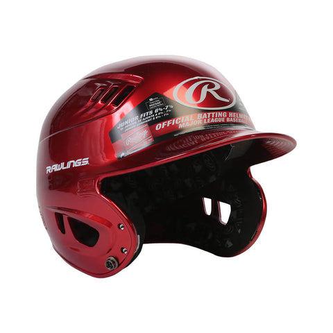 RAWLINGS VELO R16  JR BATTING HELMET METALLIC SCARLETT