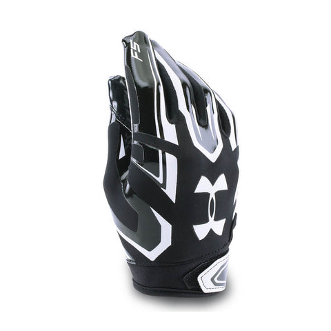 UNDER ARMOUR YOUTH F5 BLACK LARGE FOOTBALL GLOVE