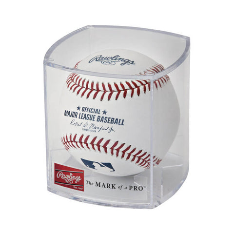 RAWLINGS MLB BALL OF FAME CUBE BALL DISPLAY CASE
