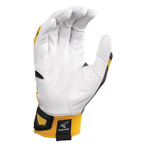 EASTON BATTING GLOVE Z7 HYPERSKIN LARGE BLACK/GOLD