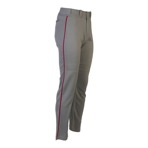 EASTON MAKO 2 PIPED X LARGE GRAY/RED BASEBALL PANT