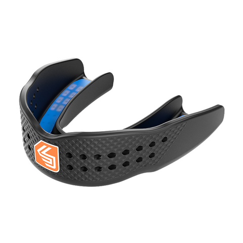 SHOCK DOCTOR ADULT SUPERFIT ALL SPORT BLACK MOUTHGUARD