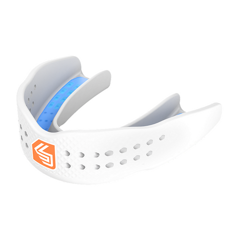 SHOCK DOCTOR ADULT SUPERFIT ALL SPORT WHITE MOUTHGUARD