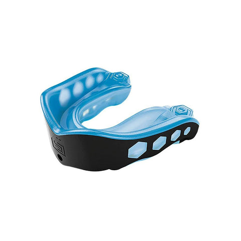 SHOCK DOCTOR ADULT GEL MAX BLACK/BLUE CONVERTIBLE MOUTHGUARD