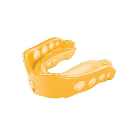 SHOCK DOCTOR ADULT GEL MAX YELLOW CONVERTIBLE MOUTHGUARD
