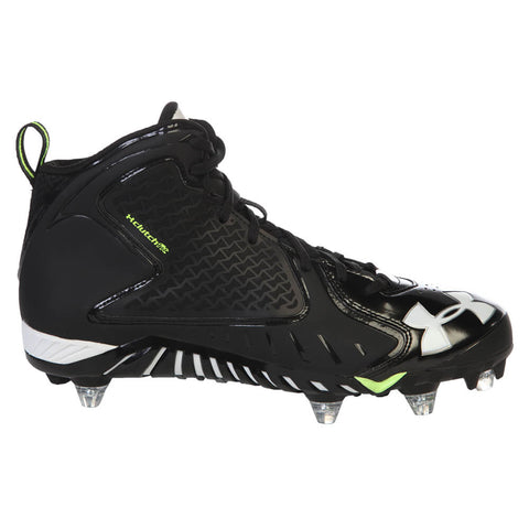 UNDER ARMOUR MEN'S FIERCE BLACK FOOTBALL CLEAT