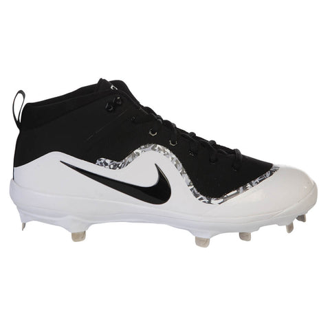 NIKE MEN'S FORCE AIR TROUT 4 BLACK/WHITE METAL BASEBALL CLEAT