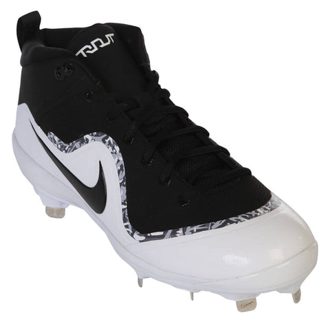 a9c20375f ... NIKE MEN S FORCE AIR TROUT 4 BLACK WHITE METAL BASEBALL CLEAT