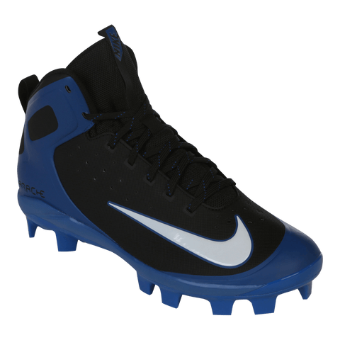 NIKE MEN'S HUARACHE MID ALPHA PRO MCS BLACK/BLUE BASEBALL CLEAT