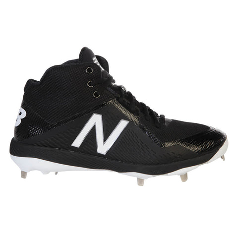 NEW BALANCE MEN'S 4040V4 MID BLACK/BLACK METAL BASEBALL CLEAT