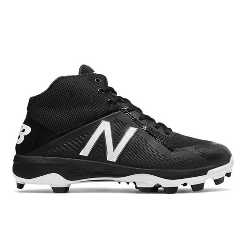 NEW BALANCE MEN'S PM4040V4 MID CUT TPU CLEAT BLACK/BLACK BASEBALL CLEAT