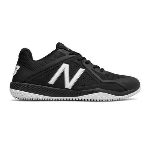 NEW BALANCE MEN'S T4040V4 LOW BLACK/BLACK TURF BASEBALL CLEAT