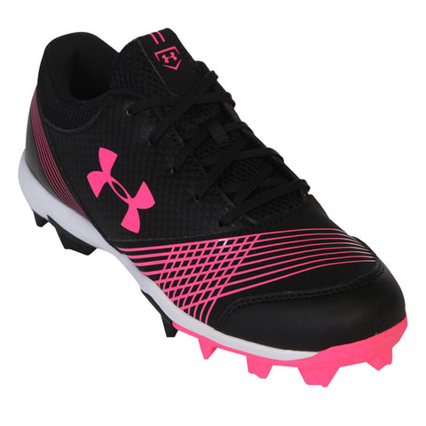 UNDER ARMOUR WOMEN'S GLYDE RM BLACK/PINK BASEBALL CLEAT