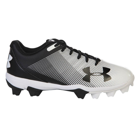 b3ea7ba84 UNDER ARMOUR JR LEADOFF LOW RM BLACK WHITE BASEBALL CLEAT ...
