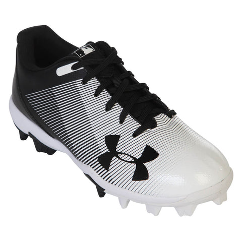UNDER ARMOUR JR LEADOFF LOW RM BLACK/WHITE BASEBALL CLEAT